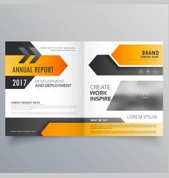 Annual report booklet brochure template design vector