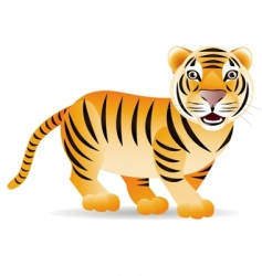 cute tiger vector image