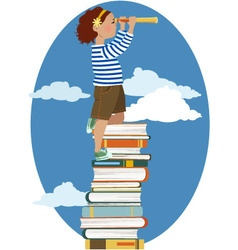 Young reader vector image