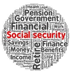 Social security word cloud vector image
