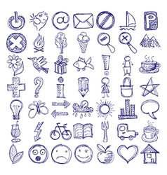 49 hand draw web doodle icon design elements vector image vector image
