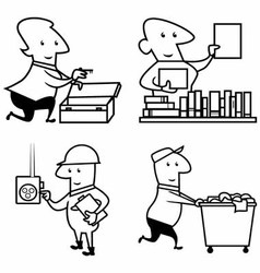Set profession people work vector