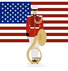 US Military Band Musician vector image