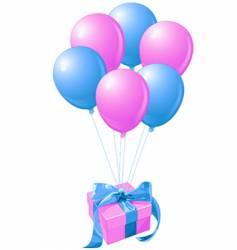 balloons gift vector image