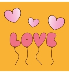 Love balloons design vector