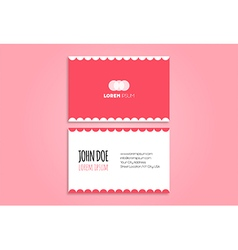Funny modern business card design vector