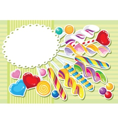sweets sticker background vector image