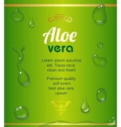 Aloe Vera juice drops elements on green fresh vector image