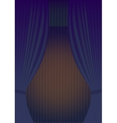 Blue curtain theatre reopening vector