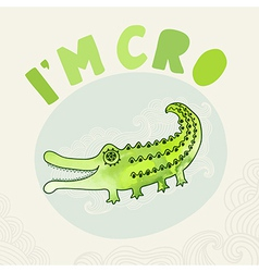 Cartoon crocodile in watercolors cartoon vector