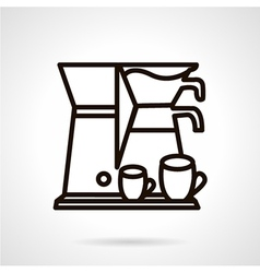 Coffee making appliance line icon vector image