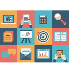 Concept of analysis and market research vector image vector image
