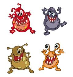 Danger cartoon monsters vector image vector image