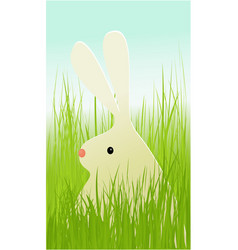 Easter rabbit in grass vector