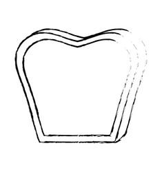 Figure delicious fresh bakery slice bread vector