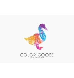 Goose logo Color goose Bird logo design vector image
