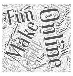 Homeschooling online word cloud concept vector
