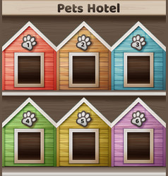 hotel for pets vector image vector image