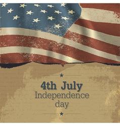 independence day vintage poster design vector image vector image