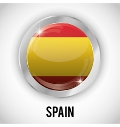 Isolated spain button design vector