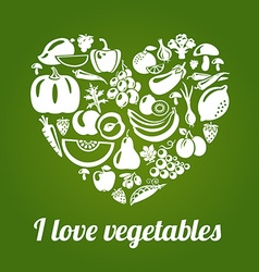 LoveVeg vector image vector image