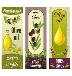 Olive banner set vector