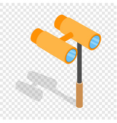 Opera glasses isometric icon vector