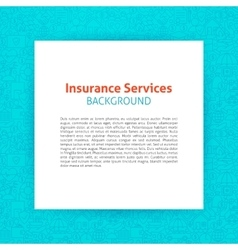 Paper template insurance line background vector
