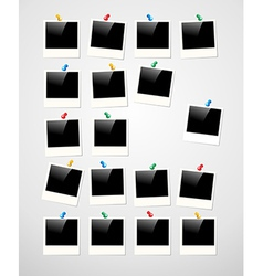 Polaroid photo frame background vector