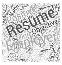 Quick Resume Writing Tips Evaluating Your Resume vector image