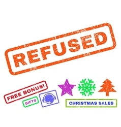 Refused rubber stamp vector