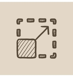 Scalability sketch icon vector