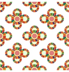 Seamless geometric pattern flowers vector image vector image