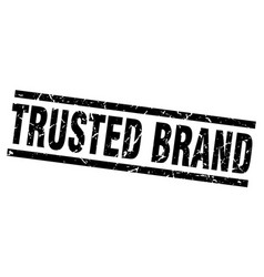 square grunge black trusted brand stamp vector image vector image
