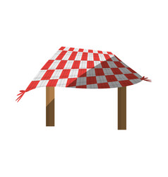 Table picnic blanket shadow vector