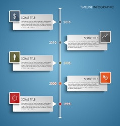 Time line info graphic colored element template vector image vector image