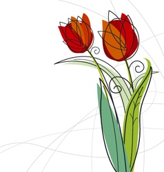 Tulips design vector image