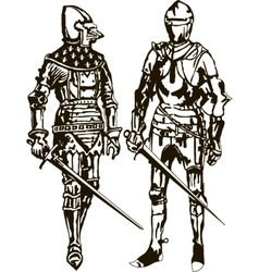 Two Soldiers vector image vector image