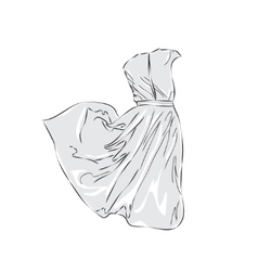 Women dress sketch vector image vector image
