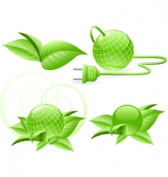 world green energy vector image