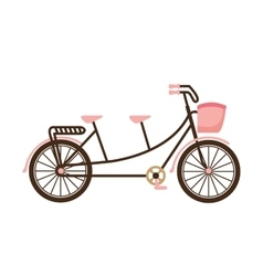 Old bicycle retro icon vector