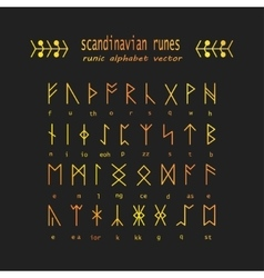 Rune alphabet occult ancient symbols vector