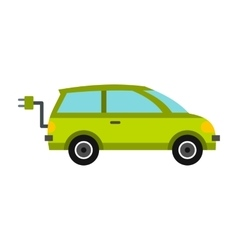Eco car icon flat style vector