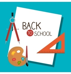 Back to school set graphic isolated vector