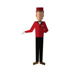 Bellboy in uniform icon image vector