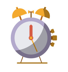 Colorful silhouette of antique alarm clock without vector