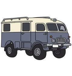 Old terrain wagon vector