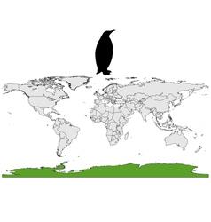 Emperor penguin range vector image