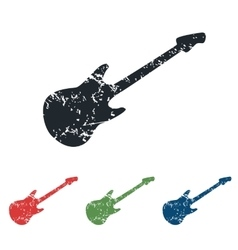 Guitar grunge icon set vector