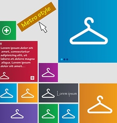 Clothes hanger icon sign buttons modern interface vector